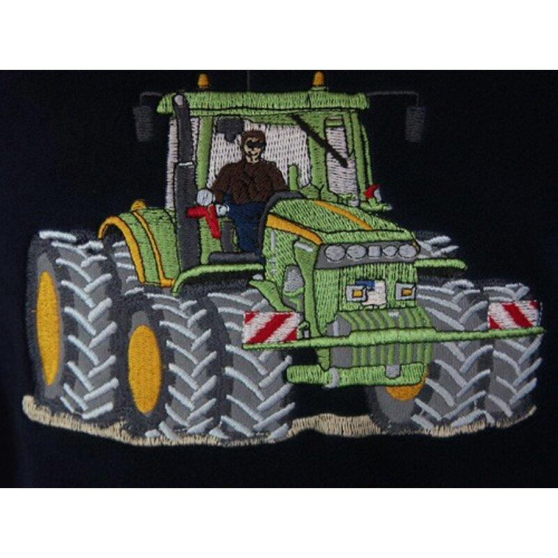 Fleece Weste Stickerei Traktor Silagewagen Q7