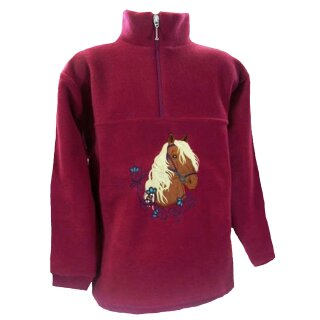 Fleece Troyer Stickerei Pferd