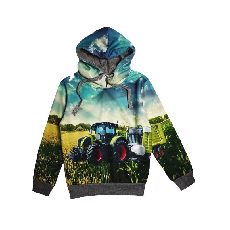 SQUARED /& CUBED Jungen Jogginganzug Traktor Ballenpresse Kapuzenpullover und Hose Blau