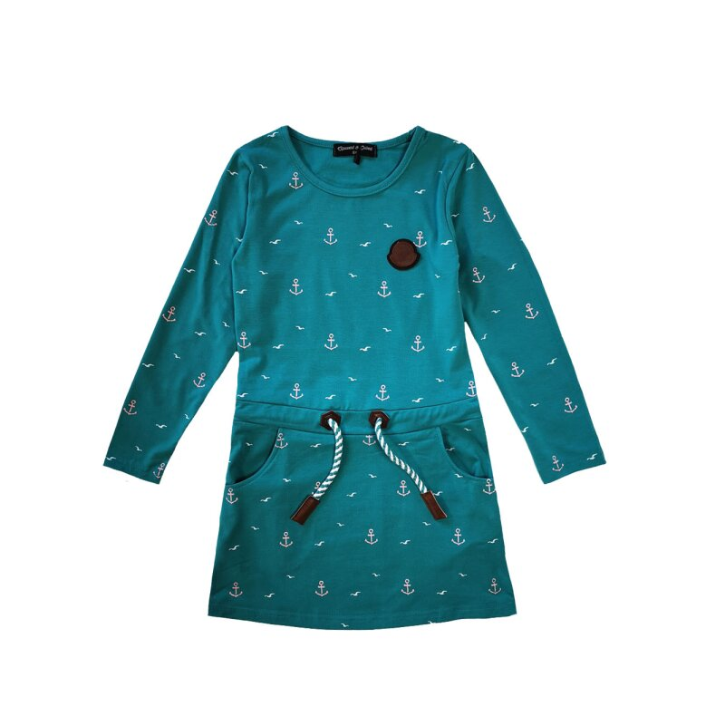 Squared & Cubed Winterkleid T-181-türkis   Only for Kids ...