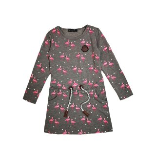 Squared & Cubed Langarm Winter Kleid Flamingo grau
